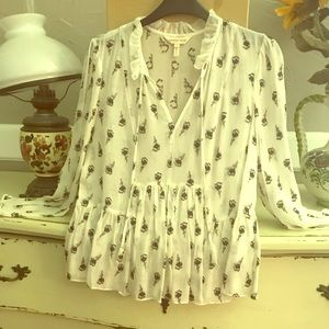 Rebecca Taylor Blouse with tiny Roses